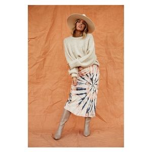 Free People Serious Swagger Tie Dye Maxi Skirt